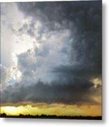 Last Nebraska Supercell Of The Summer 045 Metal Print