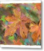 Last Of The Fall Leaves Abstract Digital Art Metal Print