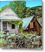Last Post Office And Ice House Metal Print