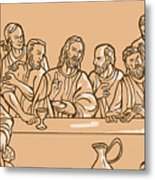 last supper of Jesus Christ Metal Print by Aloysius Patrimonio