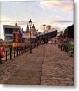 Late Afternoon At Albert Dock Metal Print