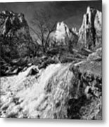 Late Afternoon At The Court Of The Patriarchs - Bw Metal Print