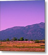 Late Afternoon In Taos Metal Print