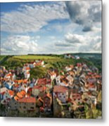 Late Afternoon Light On Staithes Metal Print