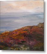 Late Afternoon On Rockport Seaside In Autumn Metal Print