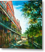 Late Afternoon On The Square Metal Print by Dianne Parks