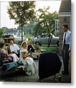 Late Afternoon Summer Party Metal Print