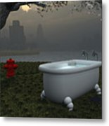 Late At Night... - Tard Le Soir... Metal Print