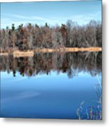 Late Autumn Reflections Metal Print