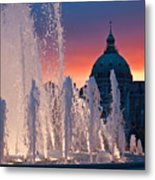 Late Evening At The Amalie Garden Metal Print