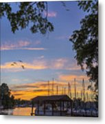 Late Evening On The Cove Metal Print
