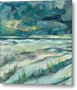 Late Evening Storm In Destin Metal Print