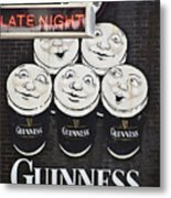 Late Night Guinness Limerick Ireland Metal Print