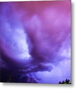 Late Night Nebraska Shelf Cloud 001 Metal Print