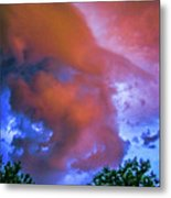 Late Night Nebraska Shelf Cloud 010 Metal Print