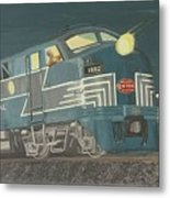 Late Night On The New York Central Metal Print