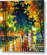Late Night - Palette Knife Oil Painting On Canvas By Leonid Afremov Metal Print