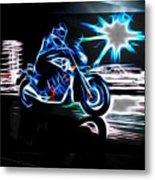 Late Night Street Racing Metal Print