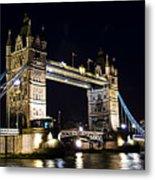 Late Night Tower Bridge Metal Print by Elena Elisseeva