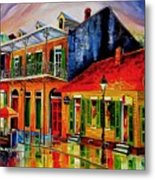 Late On Bourbon Street Metal Print