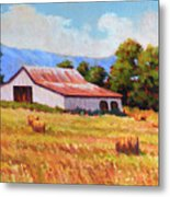Late Summer Hay Metal Print
