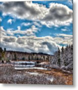 Late Winter At The Tobie Trail Bridge Metal Print