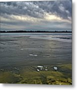 Later Winter Ice Metal Print