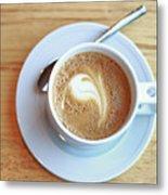 Latte Coffee Drink Metal Print
