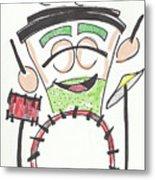 Latte Drummer Metal Print