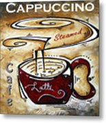 Latte Original Painting Madart Metal Print