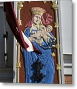 Latvia, Riga, Virgin Mary And Jesus Metal Print