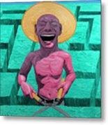 Laughing Gardener Metal Print