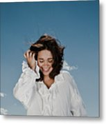 Laughing Sky Metal Print