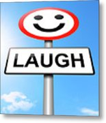 Laughter Concept. Metal Print