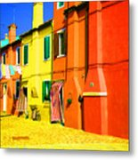 Laundry Between Chimneys Metal Print