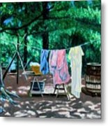 Laundry Day 1800 Metal Print by Stan Hamilton