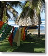 Laundry Day In Barbados Metal Print
