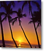 Launiupoko Sunset Metal Print