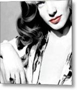 Lauren Bacall Large Size Portrait 2 Metal Print