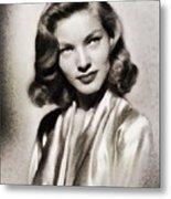 Lauren Bacall, Vintage Actress Metal Print