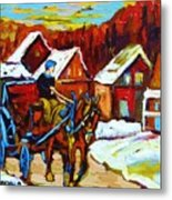Laurentian Village Ride Metal Print