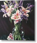 Laurette' Lillies Metal Print