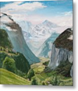 Lauterbrunnen Valley Switzerland Metal Print