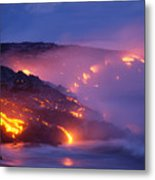 Lava At Twilight Metal Print