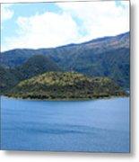 Lava Dome Island In Lake Cuicocha Metal Print