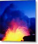 Lava Explodes Metal Print