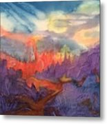 Lava Flow Abstract Metal Print