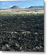 Lava Flow And Schonchin Butte, Lava Beds Nm, California, Usa Metal Print