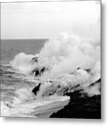 Lava flowing to the sea Metal Print