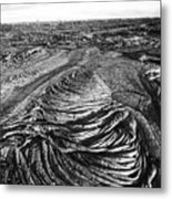 Lava Landscape - Bw Metal Print